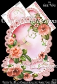 Pretty Pale Peach Camellia Scalloped Round Easel Card Mini Kit