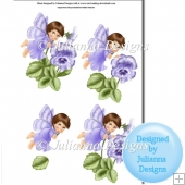 Pansy Fairy Decoupage Sheet