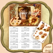 Artist Canvas Owl 2017 A4 UK Calendar with Decoupage Mini Kit