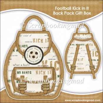 Football Kick In It Backpack Gift Box