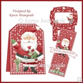 Xmas Trimmings Pop Out Banner Card