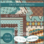 Oak & Teal Card Making Kit