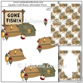 Gone Fishing Decoupage Set
