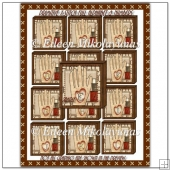 Primitive Cross Stitch Sewing Alphabet Blocks and Numbers