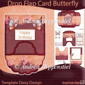 Drop Flap Card Butterfly