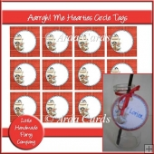 Aarrgh! Me Hearties Circle Tags