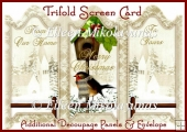 From Our Home To Yours Christmas Trifold Screen Card Set