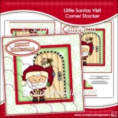 Little Santas Visit Corner Stacker