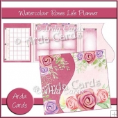Watercolour Roses Life Planner
