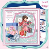 SHOPPING FOREVER HOUSEWORK WHENEVER Humorous 7.5 Decoupage Kit