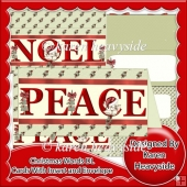 Christmas Words DL Cards Kit