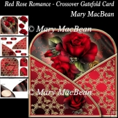Red Rose Romance - Crossover Gatefold Card