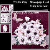 Winter Posy - Decoupage Card