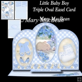 Little Baby Boy - Triple Oval Easel Card