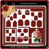 T038 Decoupage Pyramid Topper Template *PNG and PDF*