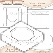Window Box Card Octagon Window Template Commercial Use OK