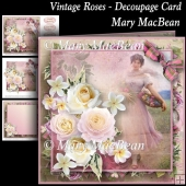 Vintage Roses - Decoupage Card