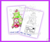 Cake Bear 2 Digital Stamp