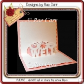 139 Get Well Pop-Up Card Insert *Multiple MACHINE Formats*