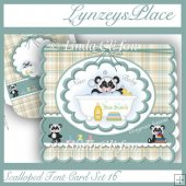 Scalloped Tent Card Set 16