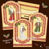Trio of Santas Card Kit
