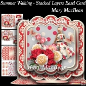 Summer Walking - Stacked Layers Easel Card