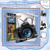 CAMERA SNAPSHOTS BIRD WATCHING 7.5 Decoupage & Insert Mini Kit
