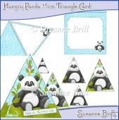 Hungry Panda 15cm Triangle Card