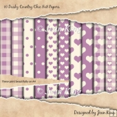 10 Dusky Country Chic 8x8 Papers