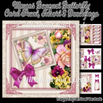 Mamas Bouquet Butterfly Card Front
