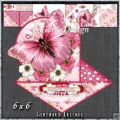 Beautiful Pink Butterfly and flower Easel with a Twist 1428