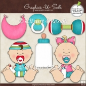 Cutie Baby 1 ClipArt Graphic Collection