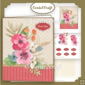 Country Lane flowers card