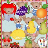 Beary Fruity Designer Resource Graphics