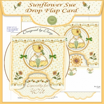 Sunflower Sue Drop Flap Card