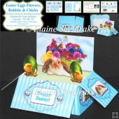 Easter Eggs,Rabbits,Flowers & Chicks - 3D Box Card Kit