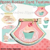 Teatime Apron Rocker Card