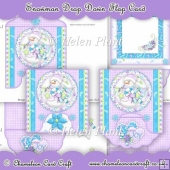 Snowman Drop Down Flap Card