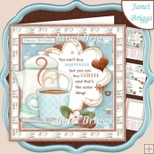 YOU CAN BUY COFFEE Humorous 7.5 Decoupage & Insert Kit