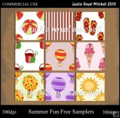 Summer Fun Free Sampler Seamless Backing Tiles
