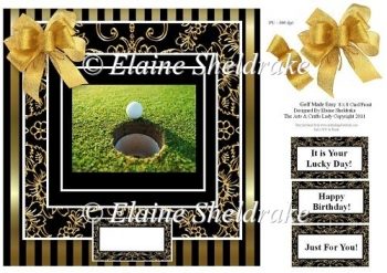 "Golf Made Easy - Fun 8"" x 8"" Card Topper"