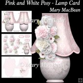 Pink and White Posy - Lamp Card