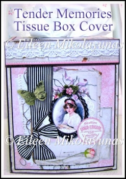 Tender Memories Kleenex Tissue Box Cover with Directions