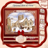 TRADITIONAL CHRISTMAS SCENE 7.8 Quick Card & Insert