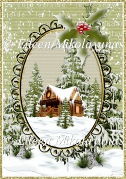 North Woods Cabin Christmas Backing Background Paper