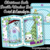 Christmas Owls Double Window Box Card