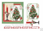 Christmas tree and candle 6x6 card