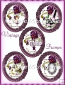 Vintage Frames Collage Sheet
