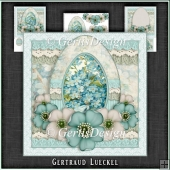 Vintage Romantic Lace Easter Egg Card Kit 1143