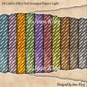 3d Lattice Effect 8x8 Grunged Papers Light